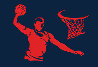 Wizards Basketball Player2 Print by Joe Hamilton