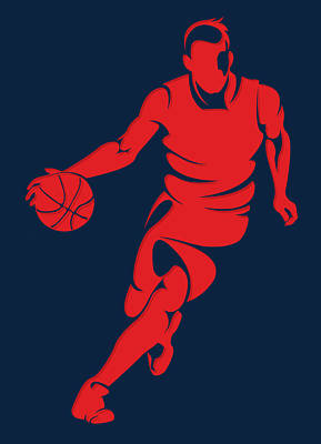 Wizards Basketball Player3 Print by Joe Hamilton