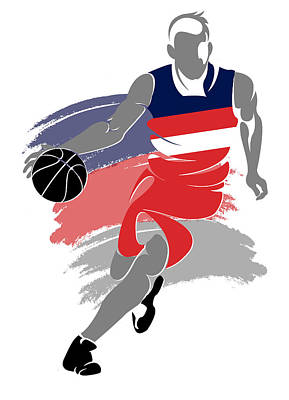 Wizards Basketball Player5 Print by Joe Hamilton