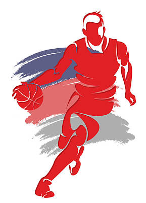 Wizards Basketball Player6 Print by Joe Hamilton