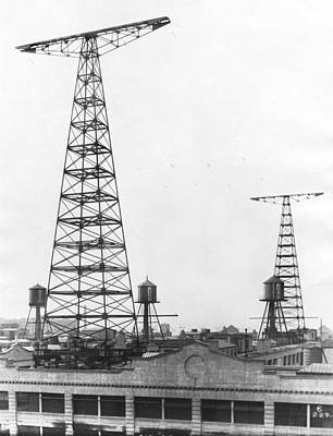 Wny Radio Station Towers Print by Underwood Archives