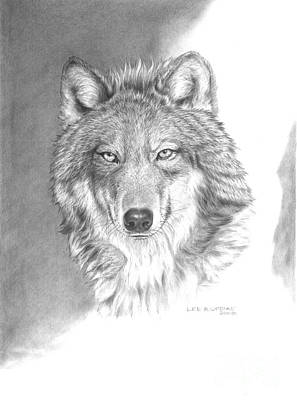 Wolves Drawing - Wolf-3 by Lee Updike