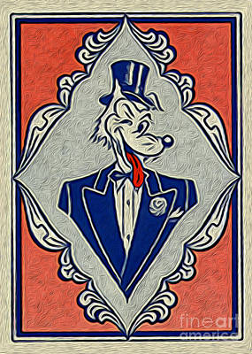 Wolf Card Print by Gregory Dyer