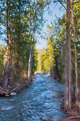 Wolf Creek Flowing Downstream  Print by Omaste Witkowski