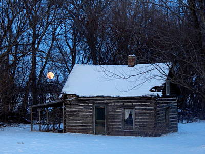 Wolf Moon Cabin Print by Wild Thing
