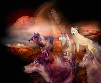 Wolf Mixed Media - Wolf Mountain by Carol Cavalaris