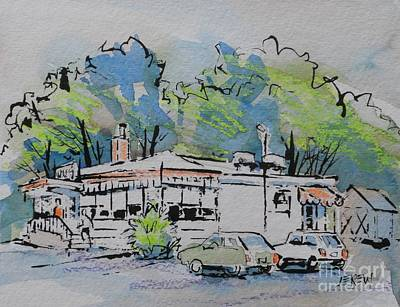 Fries Drawing - Wolf's Diner Truck Stop by Larry Lerew