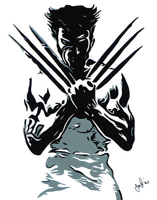 X Men Painting - Wolverine by Ian  King