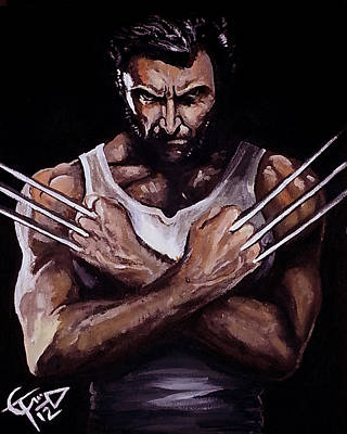 X Men Painting - Wolverine by Tom Carlton