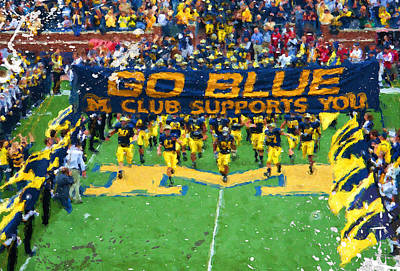 University Of Michigan Painting - Wolverines Rebirth by John Farr