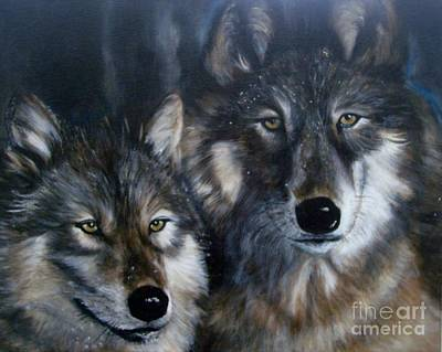 Spririt Painting - Wolves by Julie Bond