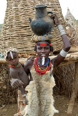 African People Photograph - Woman And Child Of The Dassenech Tribe by Peter J. Raymond