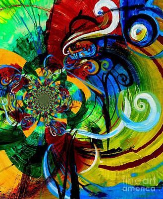 Woman Bass Kaleidoscope Original by Genevieve Esson