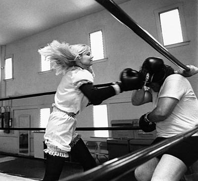 Boxing Gloves Photograph - Woman Boxer by Underwood Archives