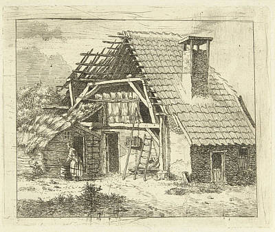 Bo Drawing - Woman Doing The Laundry For A Farm, Anthonie Van Den Bos by Artokoloro