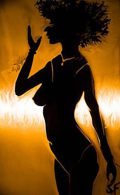 Hairstyle Digital Art - Woman Figure by Sotiris Filippou