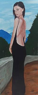 Woman In A Black Dress Original by Glenn Harden