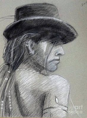 Woman In Hat Print by Barbara Oertli