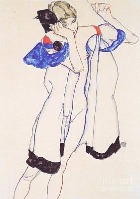 Woman In Housecoat Print by Pg Reproductions