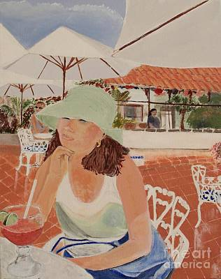 Bloody Mary Painting - Woman In Mazatlan by Debra Chmelina