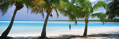 Getting Away From It All Photograph - Woman In Sarong On The Beach, One Foot by Panoramic Images