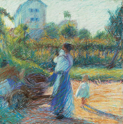 Umberto Painting - Woman In The Garden by Umberto Boccioni