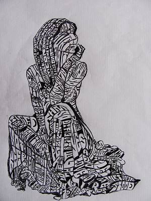 Woman Print by Lourents Oybur