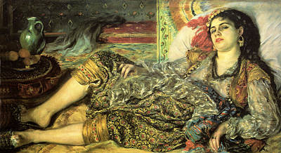 Gypsy Digital Art - Woman Of Algiers by Pierre Auguste Renoir