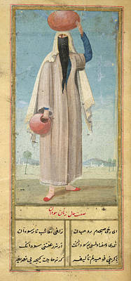 Woman Of Baghdad Print by British Library
