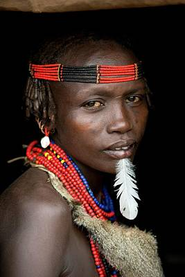 African People Photograph - Woman Of The Dassenech Tribe by Tony Camacho
