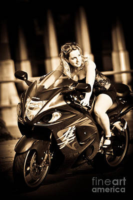 D700 Photograph - Woman On A Hayabusa by Liesl Marelli
