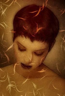Woman Portrait Print by Gun Legler