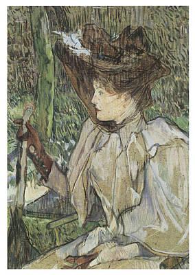 Woman With Gloves Honorine Platzer Print by Henri De Toulouse-Lautrec