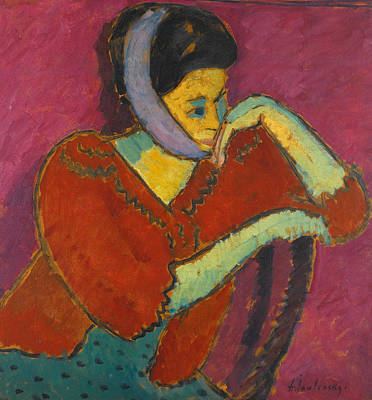 Bandages Painting - Woman With Head-bandage by Alexej Jawlensky