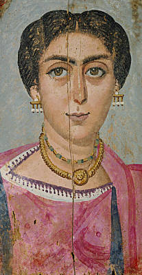 Woman Painting - Woman With Necklace by Celestial Images