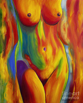 Multicolor Painting - Woman3 by Veikko Suikkanen