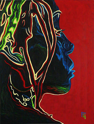 Self Shot Painting - Womans Essence  by  Fli Art