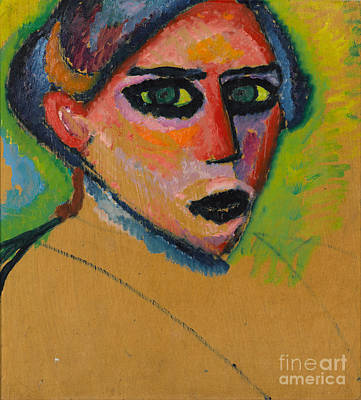 Orthodox Painting - Woman's Face by Celestial Images