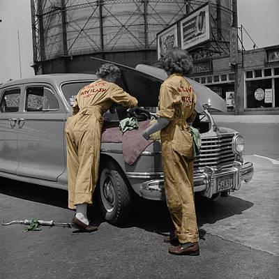 Women Auto Mechanics Print by Andrew Fare