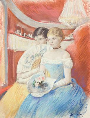 Cassatt Painting - Women In A Loge by Mary Stevenson Cassatt