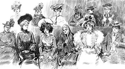 Women Jurors 1902 Print by Padre Art