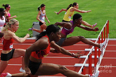 Canadian Sports Photograph - Womens Hurdles 3 by Bob Christopher