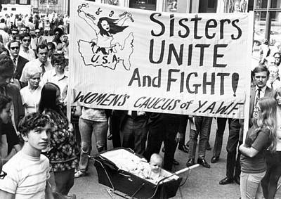 Women's Liberation Gathering Print by Underwood Archives