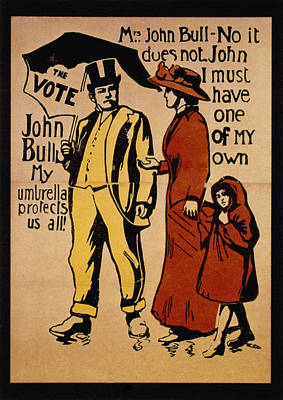 Suffrage Painting - Women's Rights, C1911 by Granger