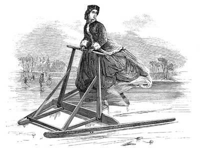 Women's Skating Frame Print by Bildagentur-online/tschanz