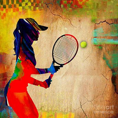 Womens Tennis Print by Marvin Blaine