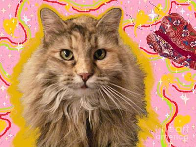 Painting - Wonder Kitty by Jacquelyn Roberts