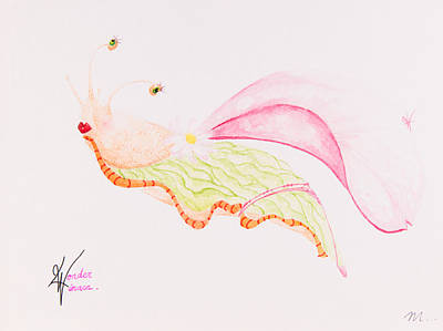 Super Hero Drawings Drawing - Wonder Limace by Maeva Merel