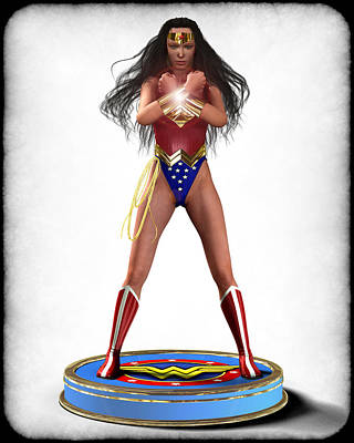 Wonder Woman V2 Print by Frederico Borges