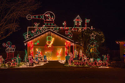 Helicopter Photograph - Wonderful Christmas House by Garry Gay